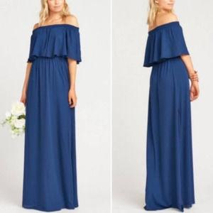 Show Me Your Mumu Hacienda Maxi Dress Navy NWT XL
